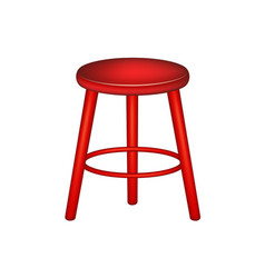 Retro stool in red design vector