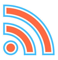 rss sign subscribe button or wi-fi signal icon vector image