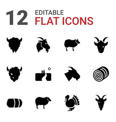 Rural icons vector