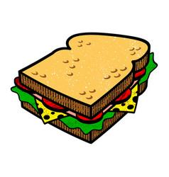 Sandwich cartoon illlustration vector