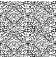 seamless geometric line pattern in eastern or vector image