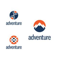 Set abstract template logo design vector