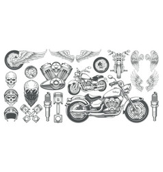 Set of icons of vintage vector