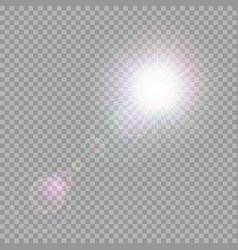 shining light beams vector image