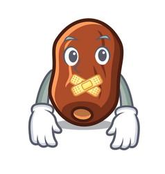 Silent dates fruit mascot cartoon vector