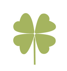 Simple symbol of clover leaf green leaf vector