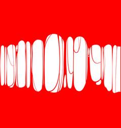 slime sticky red banner spittle snot frame of vector image