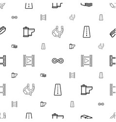 strip icons pattern seamless white background vector image