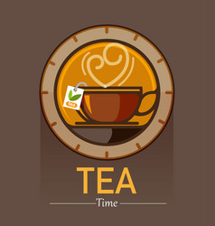 tea time lover vector image