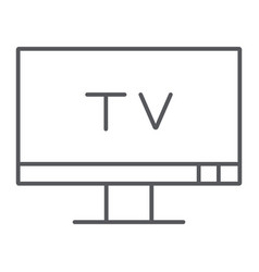 tv thin line icon screen and display television vector image