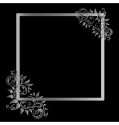 Vintage frame on black background vector image
