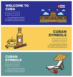 welcome to cuba internet promo pages templates set vector image
