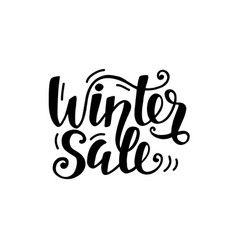 winter sale unique banner with cute lettering vector image
