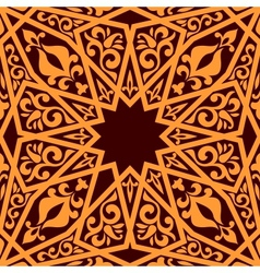 Arabic seamless pattern with geometric elements vector image vector image