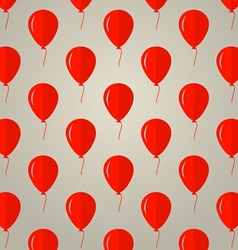 background for red balloons vector image