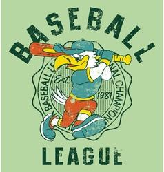 Eagles kids baseball vector