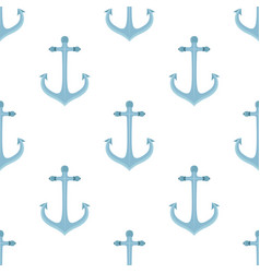 Metal anchor seamless pattern marine vector