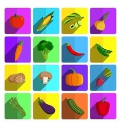 Modern vegetable icon set vector image vector image