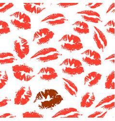 print of lipstick vector image vector image