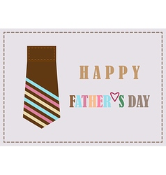 Fathers day design card background vector image