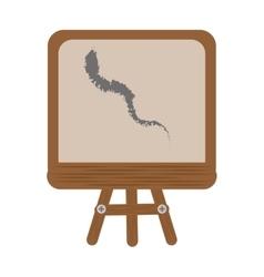 cartoon chalkboard tripod chalk school vector image vector image