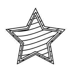 figure star with stripes independece day icon vector image vector image