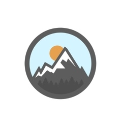 flat mountain icon vector image