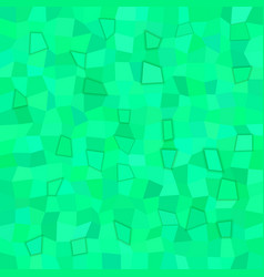 Green rectangle tiled mosaic pattern background vector