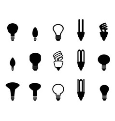 light bulbs shape collection vector image vector image