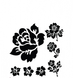 Rose ornamental vector