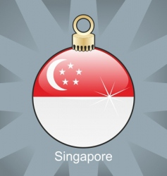 Singapore flag on bulb vector image vector image