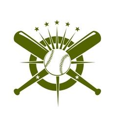 Baseball championship icon or emblem vector image