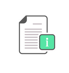 document file info info button page icon vector image