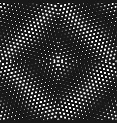 Halftone seamless pattern radial black white vector