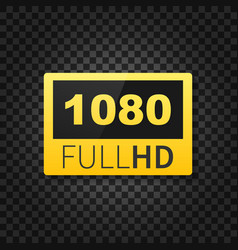 1080 full hd label high technology led television vector