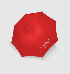 3d realistic render red blank umbrella icon vector