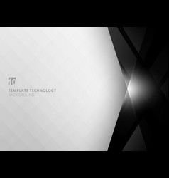 Abstract technology geometric black color shiny vector