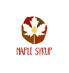abstract template logo design with maple leaf and vector image