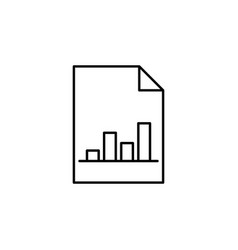 analytics chart graphic outline icon signs and vector image
