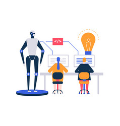 Artificial intelligence - flat design style vector