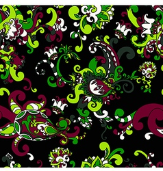 beautiful floral seamless background vector image