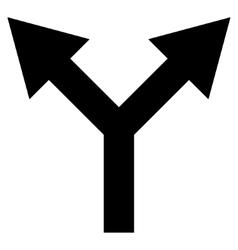 Bifurcation Arrow Up Flat Icon vector