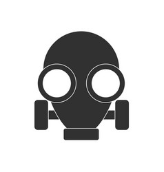 Black icon on white background gas mask vector