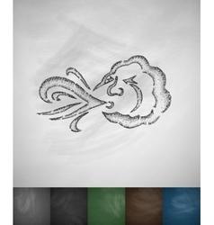 Blowing cloud icon vector
