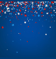 Blue background with colorful stars vector