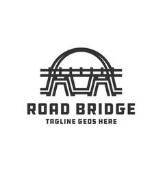 bridge construction logo design vector image