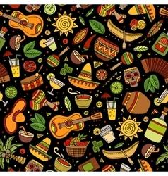Cartoon hand-drawn latin american mexican vector image vector image
