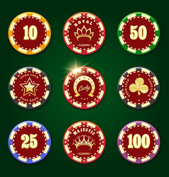 Casino chip set vector