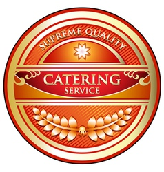 Catering Service Label vector