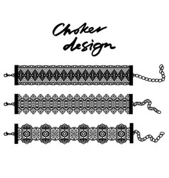 Choker design collection of chokers vector